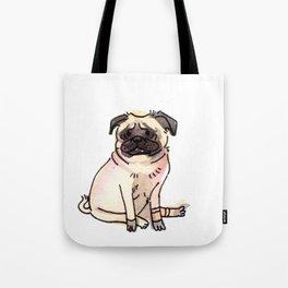 Katana - Pug Dog Watercolour Tote Bag