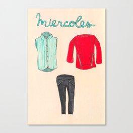 Miercoles outfit Canvas Print