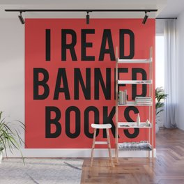 I Read Banned Books - Red B/G Wall Mural