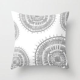 Expanding on White Background Throw Pillow