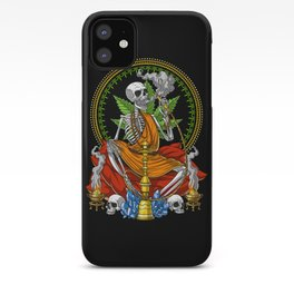 Buddha Skeleton Stoner iPhone Case