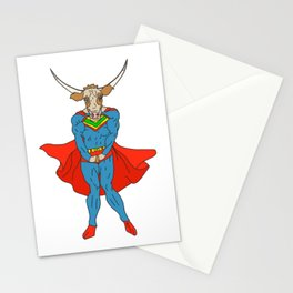 Man of Steer Stationery Cards