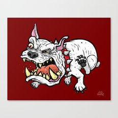 Raging Bulldog Canvas Print