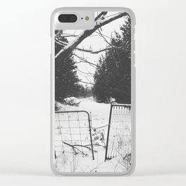 Snowy Gates Clear iPhone Case