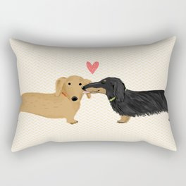 Dachshunds Love Rectangular Pillow