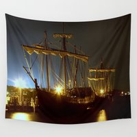 ships Wall Tapestries featuring Tall Ships by Forand Photography