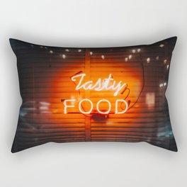 Tasty Food Neon Rectangular Pillow