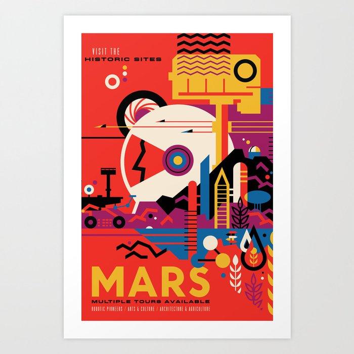 NASA Retro Space Travel Poster #9 Mars Kunstdrucke