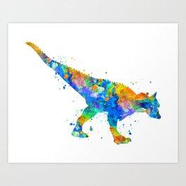 Carnotaurus Dinosaur Art Print