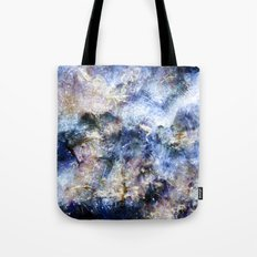 Blue Textures Tote Bag