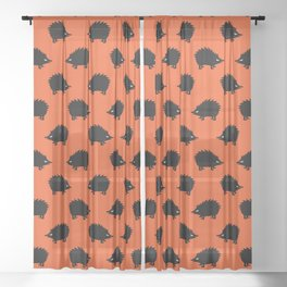 Angry Animals: hedgehog Sheer Curtain