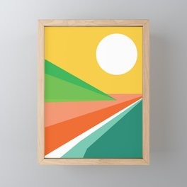 The beach Framed Mini Art Print