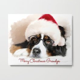 Merry Christmas Grandpa Metal Print