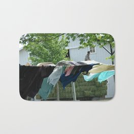 Clothes on the Line in Amish Country Bath Mat