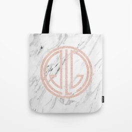 great Gatsby rose gold black and white marble Tote Bag