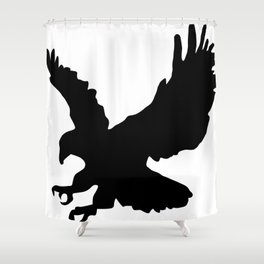 Eagle Silhouette Shower Curtain