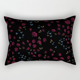 Skull Collection - Roses, Butterflies & Hummingbirds match Rectangular Pillow