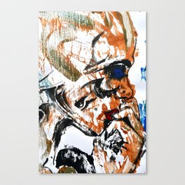 Abstract 97 - Tribal Face Canvas Print