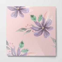 Floral Pattern Prints art  Metal Print