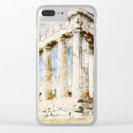 Acropolis, Athens Greece Clear iPhone Case