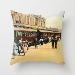 1900s Haydarpasa railroad station, train Throw Pillow
