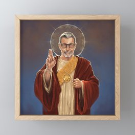 Saint Jeff of Goldblum Framed Mini Art Print
