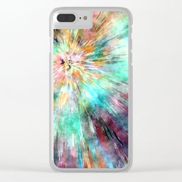 Colorful Tie Dye Clear iPhone Case