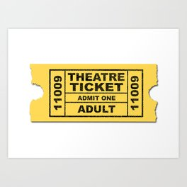 Theatre Ticket Art Print