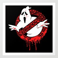 ghost busters Art Prints featuring SCREAM BUSTERS by Henry Quiara
