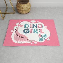 Dino Girl, Pink Rug