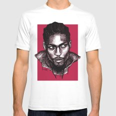 D'Angelo White Mens Fitted Tee MEDIUM