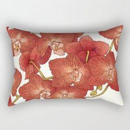 Red Orchids Rectangular Pillow