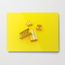 Duplo Yellow Metal Print