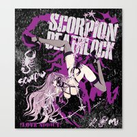 scorpio Canvas Prints featuring SCORPIO by Chandelina