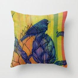 Artichoke Aloe Finch Air Throw Pillow