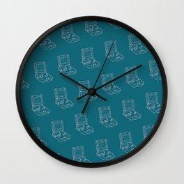 Game Boy Advance Pattern Blue Wall Clock