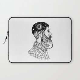 BEARDED MAN Laptop Sleeve