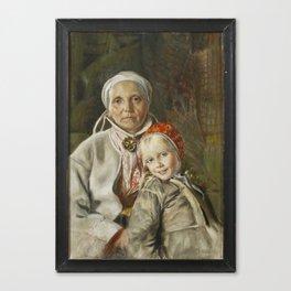 ANDERS ZORN,  Mona och Karin  1885 Canvas Print