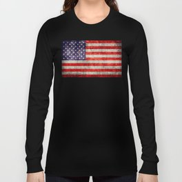 Antique American Flag Long Sleeve T-shirt