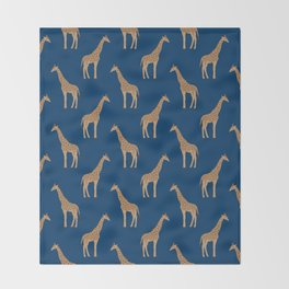 Giraffe african safari basic pattern print animal lover nursery dorm college home decor Throw Blanket
