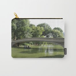 Bow Bridge And Rowboat NYC Carry-All Pouch