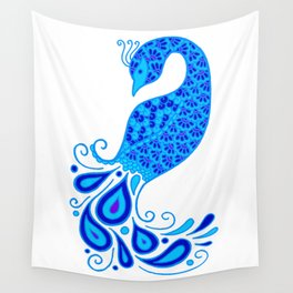 Blue Peacock Wall Tapestry