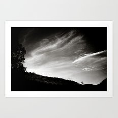 travelling clouds Art Print