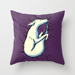 Sleeping Iggy Dog - Italian Greyhound - Whippet - Purple Throw Pillow