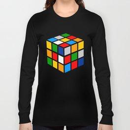 Multicolored Rubik Cube Long Sleeve T-shirt