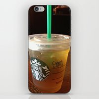 starbucks iPhone & iPod Skins featuring Starbucks Emma by Amanda Byrnes