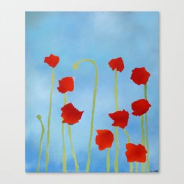 Poppies tall Canvas Print