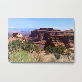 Shafer Canyon Overlook Metal Print