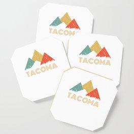Retro City of Tacoma Mountain Shirt Coaster