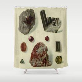 Garnet Minerals Shower Curtain